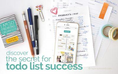 Discover The Secret for Todo List Success