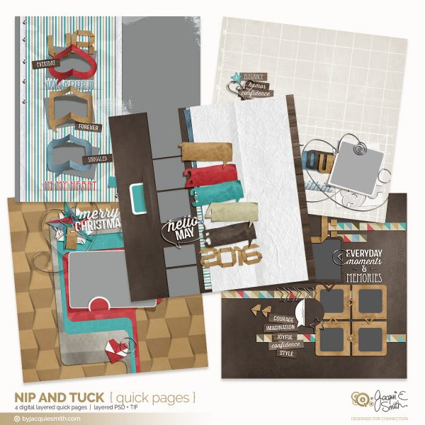 Nip and Tuck digital layered quick pages at byjacquiesmith.com