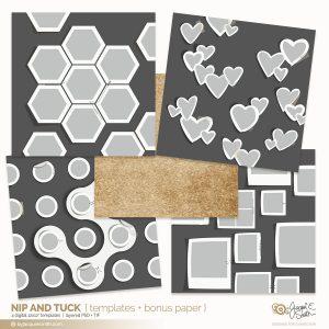 Nip and Tuck digital layered templates at byjacquiesmith.com