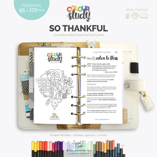 So Thankful Color + Study printable devotional : personal at byjacquiesmith.com