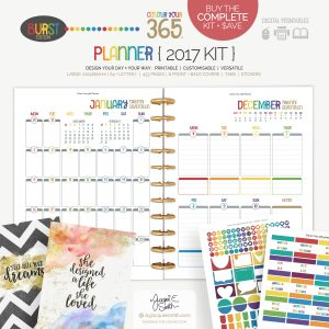 2017 Colour Your 365 Burst Edition printable planner : Complete Kit > create your perfect planner at byjacquiesmith.com