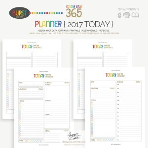 2017 Colour Your 365 Burst Edition printable planner : Today page designs at byjacquiesmith.com