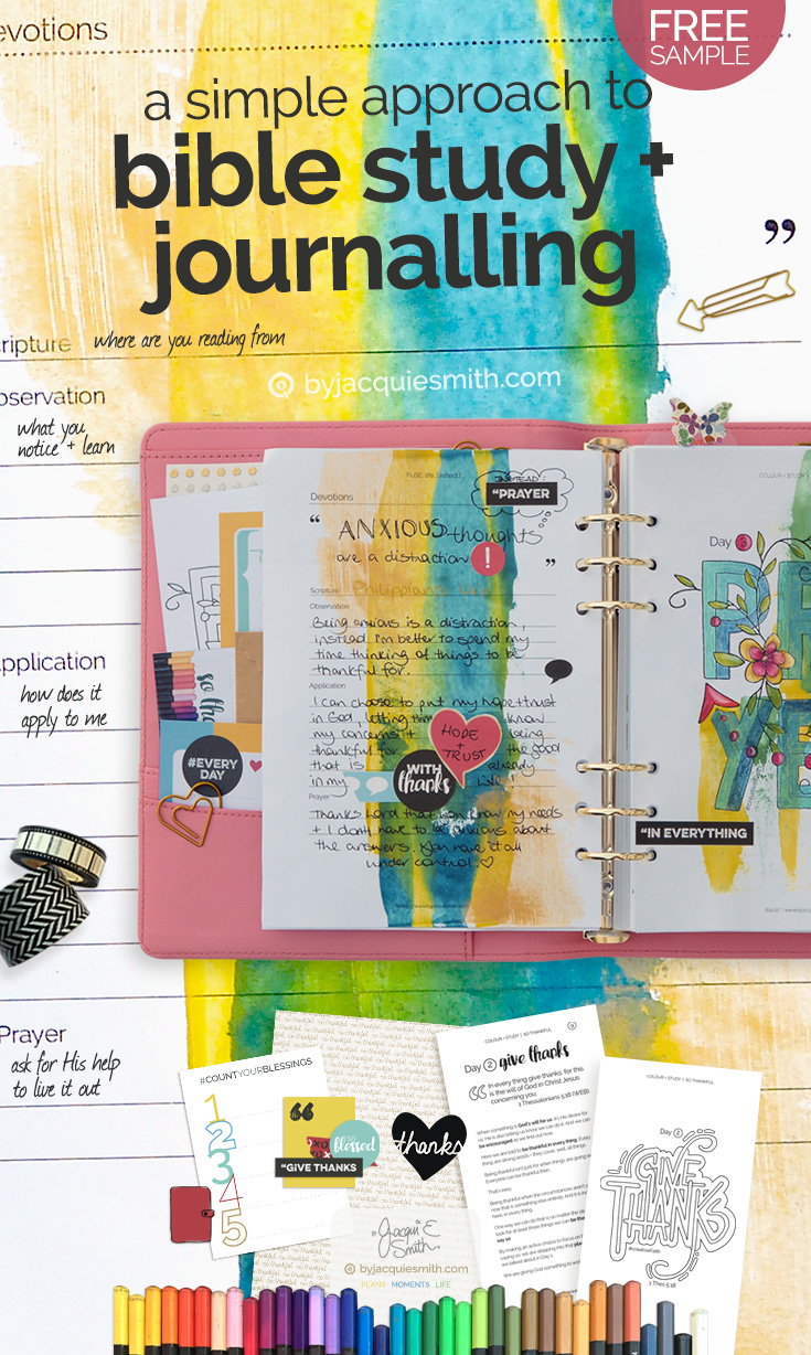 SOAP : a simple approach to bible study + journalling > try products free at byjacquiesmith.com