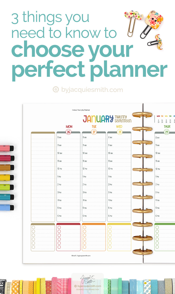 3 Things You Need to Know to Choose Your Perfect Planner at byjacquiesmith.com > Try a free sample today!