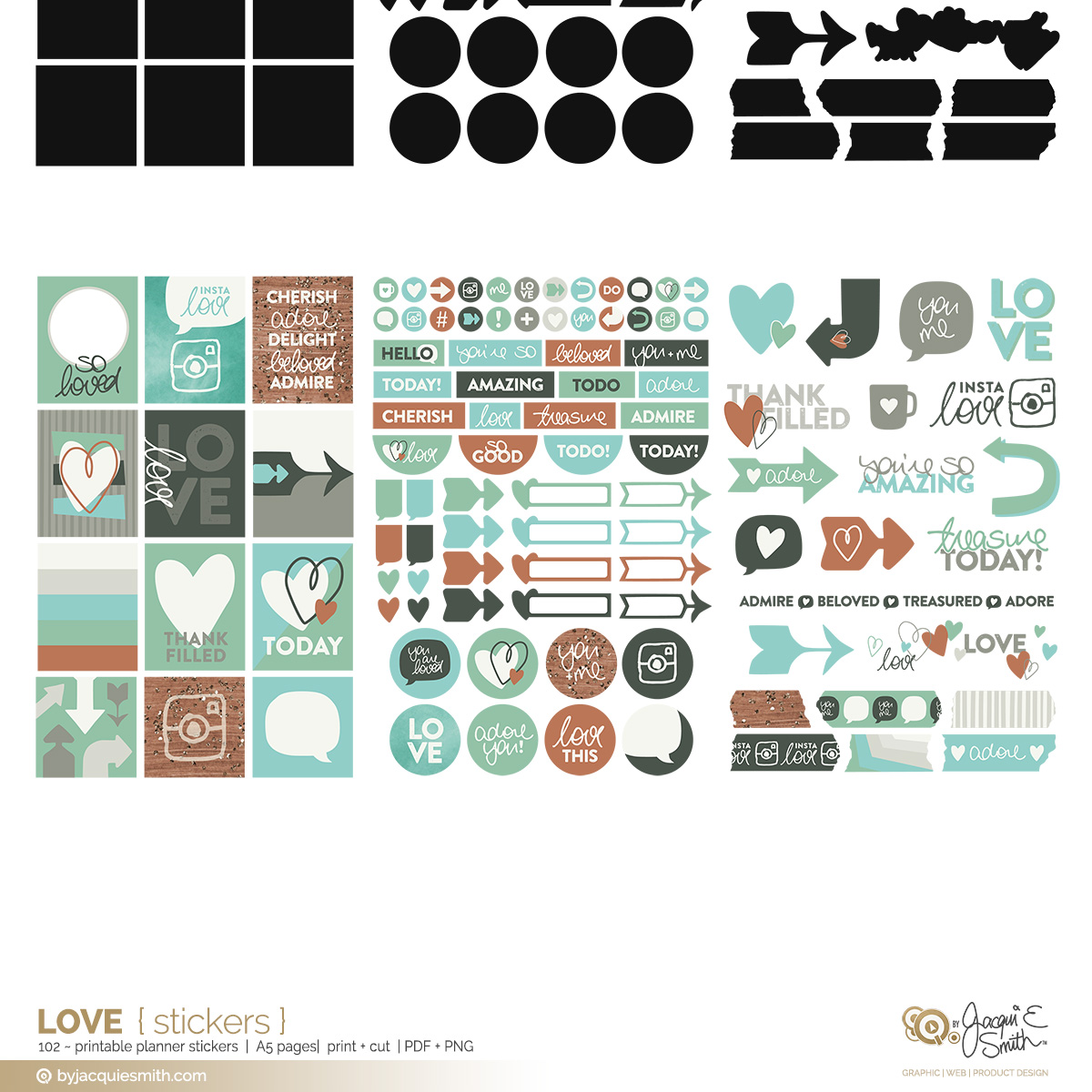 Love printable stickers at byjacquiesmith.com