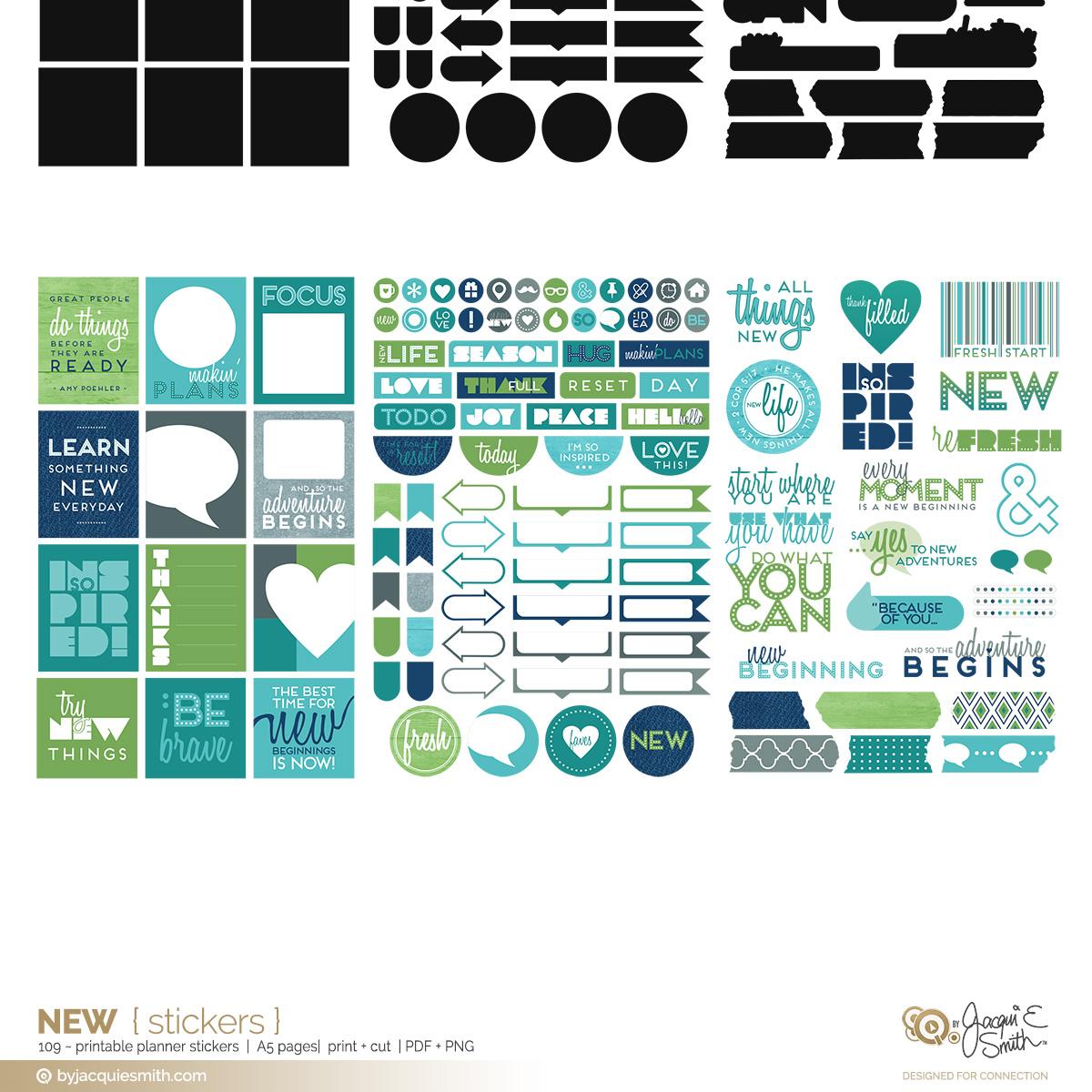 New printable stickers at byjacquiesmith.com