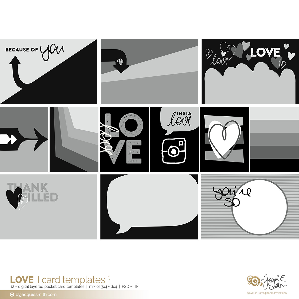 Love digital pocket card layered templates at byjacquiesmith.com