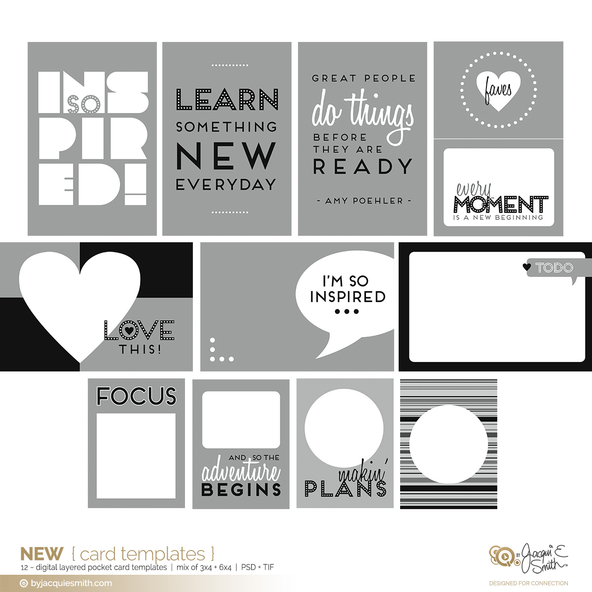 New digital pocket card layered templates at byjacquiesmith.com