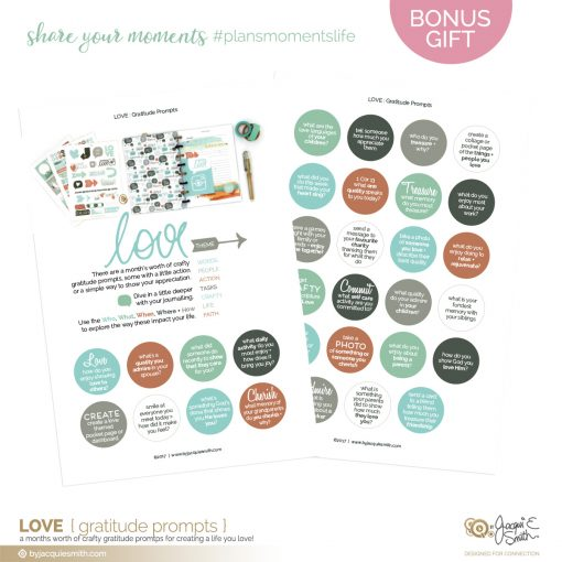 Create a Life You Love with the Power of Gratitude : download free prompts at byjacquiesmith.com/challenge