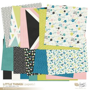 Little Things digital papers at byjacquiesmith.com