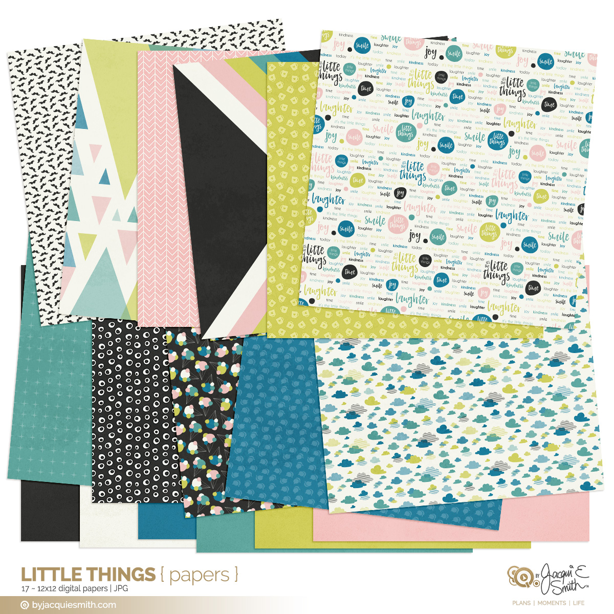digital papers, scrapbooking papers, printable papers, planner papers