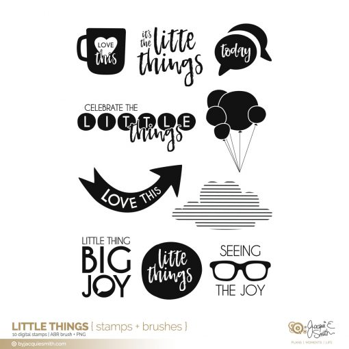 Little Things digital stamps + brushes at byjacquiesmith.com