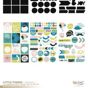 Little Things printable stickers at byjacquiesmith.com