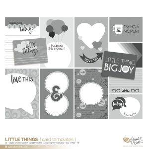 Little Things digital pocket card layered templates at byjacquiesmith.com
