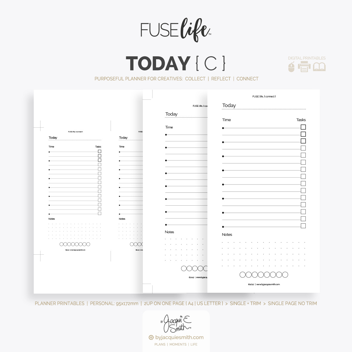 FUSElife planner printables refill today