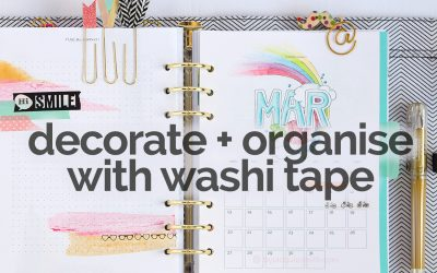 8 Ways to Use Washi Tape in Your Planner