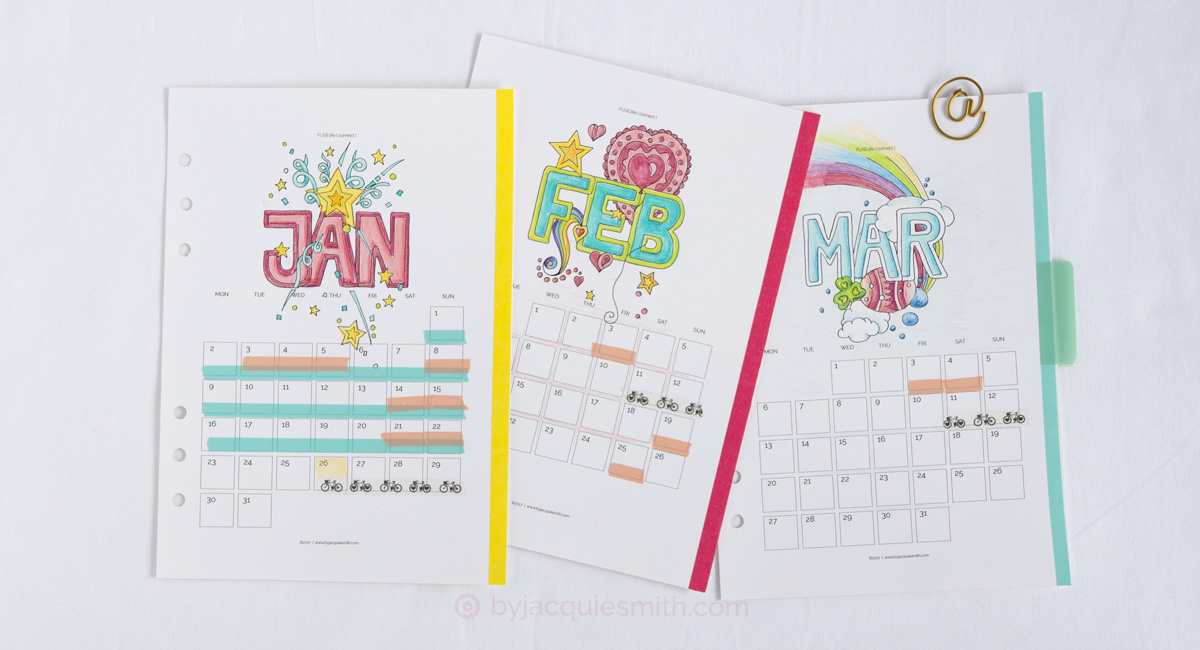 8 Ways to Use Washi Tape in Your Planner at byjacquiesmith.com > Get started with free digi planner + craft supplies!