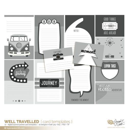 byjacquiesmith, pocket card templates, layered photoshop templates, 3x4 journal cards, 6x4 journal cards, project life card templates, pocket card scrapbooking templates