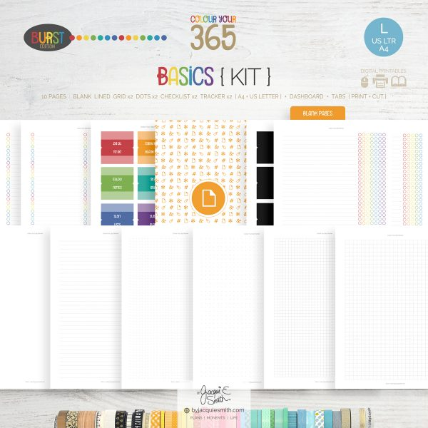 printable planner, planner kit, planner printables, digital planner refill kit, A4 planner pages, US letter planner pages