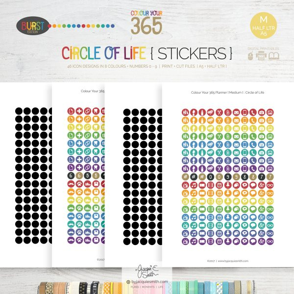 printable stickers, planner stickers, byjacquiesmith