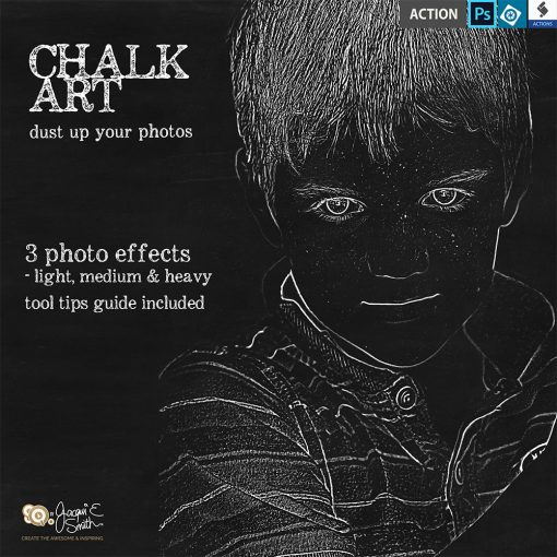 Chalk Art actions by Jacqui E Smith