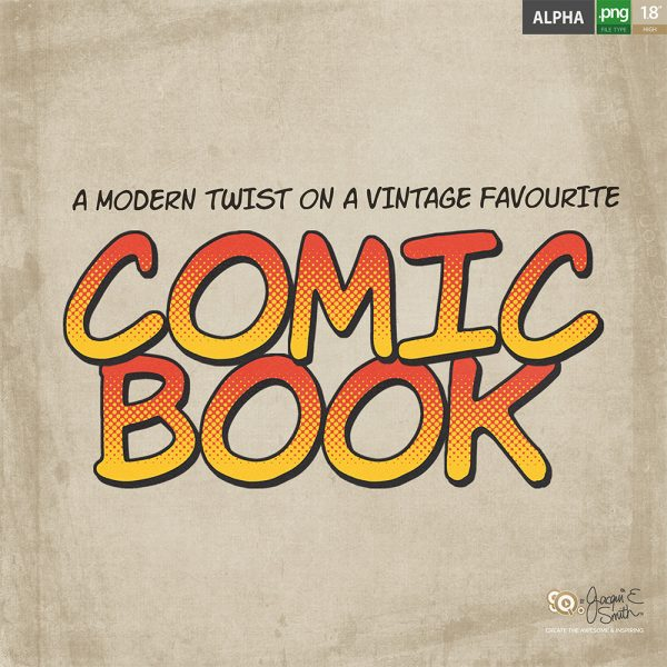 Comic Book alpha by Jacqui E Smith