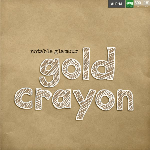 Gold Crayon alpha by Jacqui E Smith