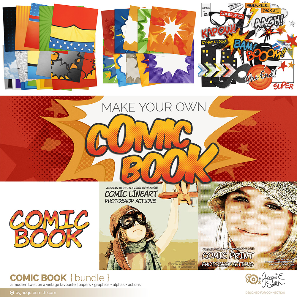 Comic Book bundle by Jacqui E Smith