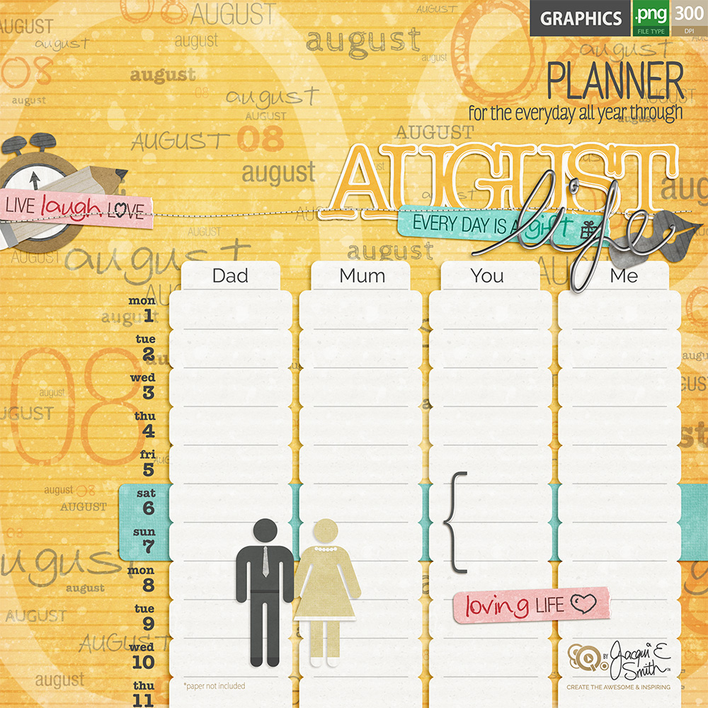 Planner graphics by Jacqui E Smith