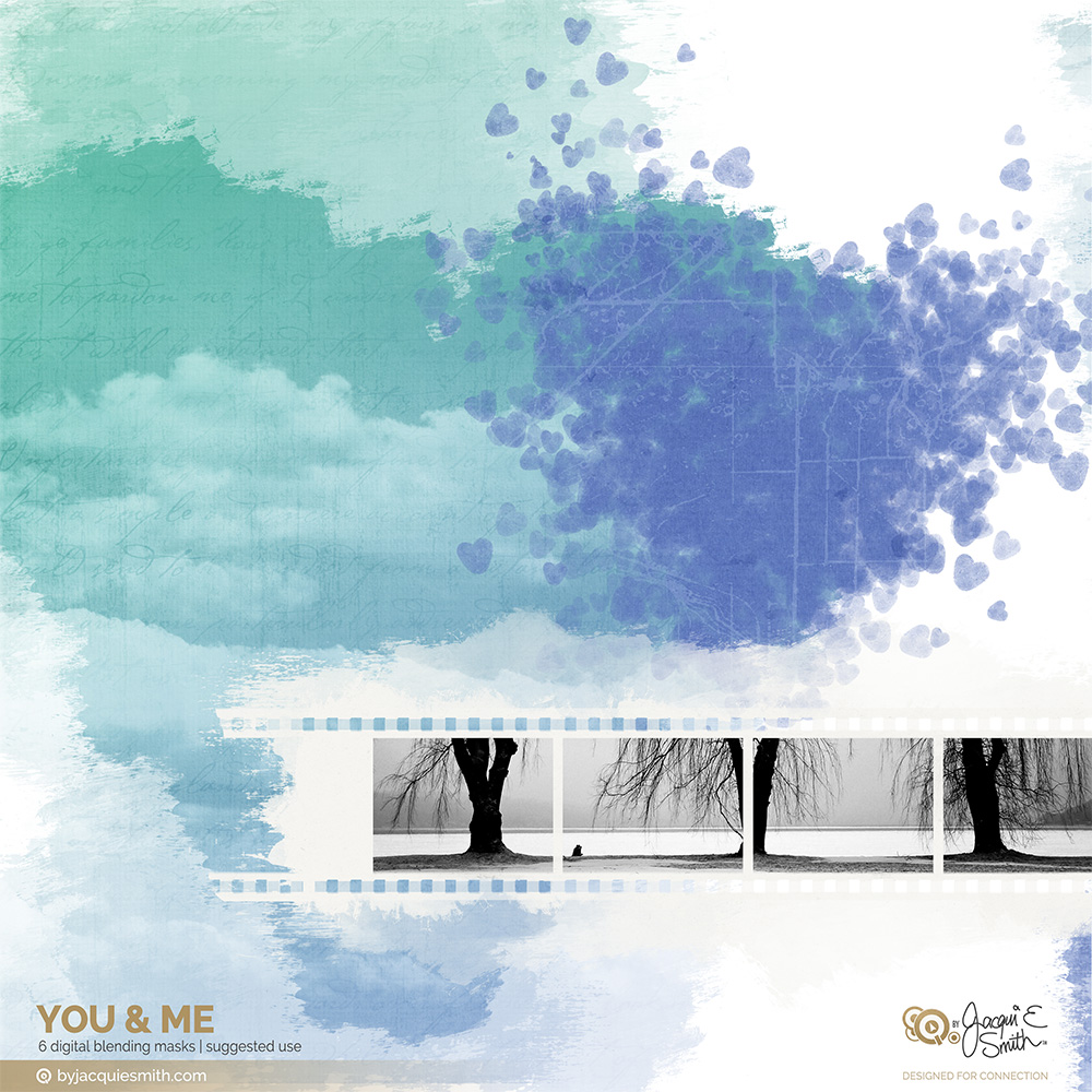 You and Me digital mask samples by Jacqui E Smith