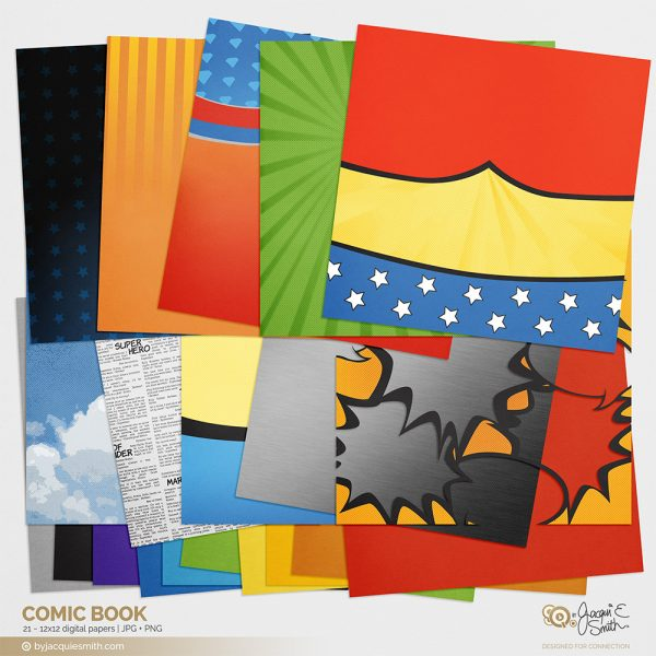 Comic Book digital papers at byjacquiesmith.com