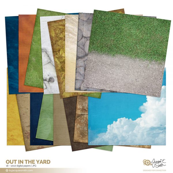 Out in the Yard digital papers by Jacqui E Smith