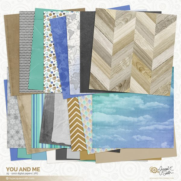 You and Me digital papers by Jacqui E Smith