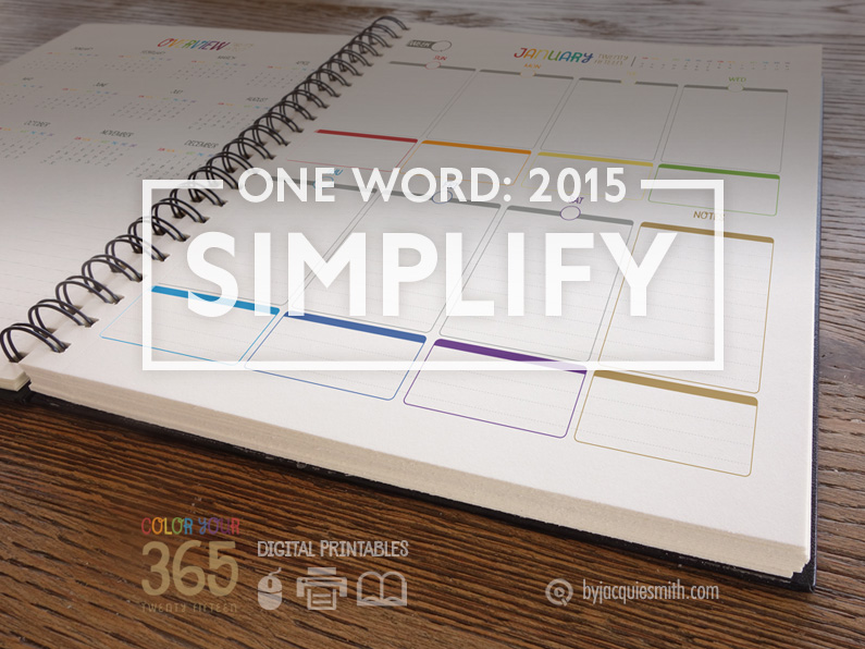 One Word for 2015: Simplify